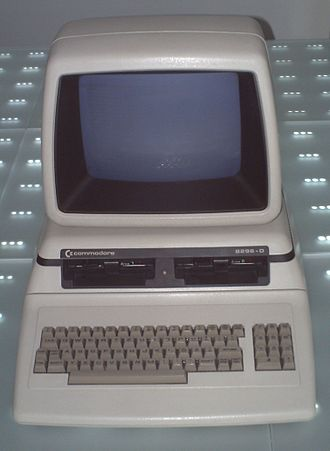 Commodore PET - CBM 8296-D with two floppy disk drives