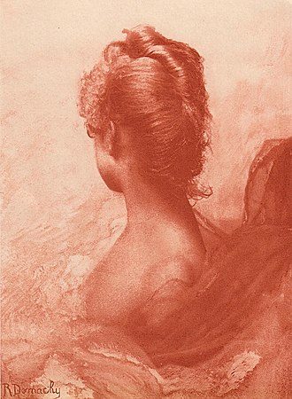 Robert Demachy - Study in Red - Published in Camera Notes, Vol. 2, No 1, July 1898
