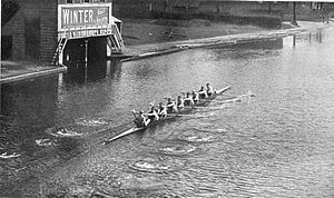 Cambridge University Boat Club - Image: CUBC practicing 1899