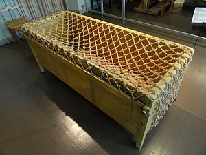 Cage bed - Cage bed for the mentally ill, 1910, Helsinki University Museum