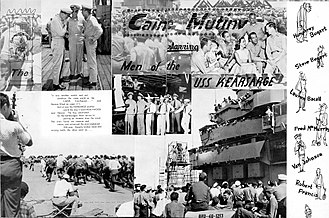 USS Kearsarge (CV-33) - Souvenir from filming The Caine Mutiny