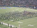 Cal Band performing at halftime at 2008 Big Game 7.JPG