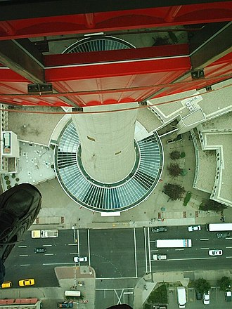 Glass floor - Image: Calgary Tower's Glass Floor