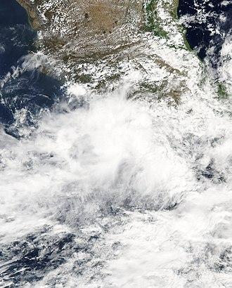2005 Pacific hurricane season - Image: Calvin 2005 06 27 1955Z