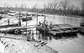 Camp Ellis - Engineers Training at Camp Ellis, Illinois.