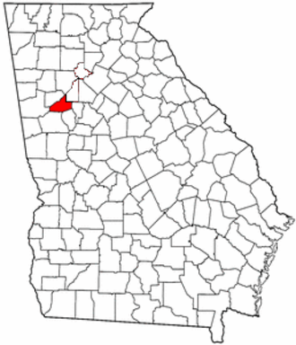 Campbell County, Georgia - Location in Georgia