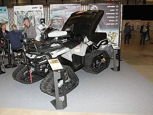 Can-Am motorcycles - Can-Am Outlander 6x6 T3 all-terrain vehicle with winter tracks