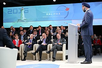 Harjit Sajjan - Sajjan speaking at the Halifax International Security Forum in 2016