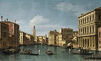 Canaletto - The Grand Canal looking north-west from Ca' Corner to Ca' Contarini degli Scrigni, with the campanile of Santa Maria della Carità.jpg