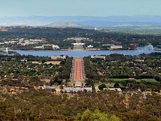 Canberra, located in the northern end of the territory, is an entirely planned city. Canberra.jpg