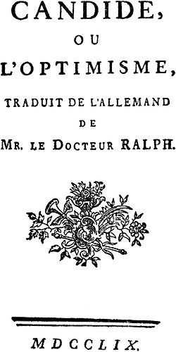 Dissertation sur candide apologue