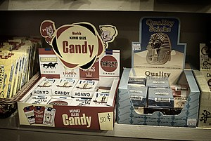 Candy cigarette - Image: Candy cigarette display in shop