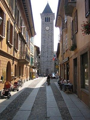 Cannobio - The main street A. Giovanola