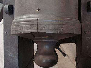Canon de 12 Gribeauval - Breech inscription, Paris An 2