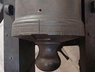 Canon de 12 Gribeauval - Breech inscription, Paris An 2
