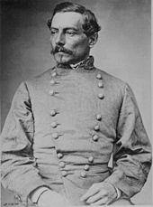 Portrait du brigadier général Pierre Beauregard dirigeant l'assaut confédéré.