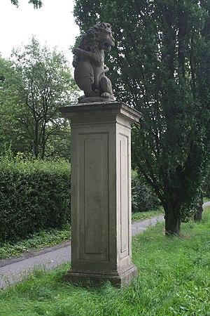 Cappenberg Castle - Lion at entrance to Schloss Cappenberg