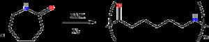 Nylon 6 - Polymerization of caprolactam to Nylon 6.