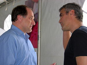 Mike Capuano - Capuano with actor and activist George Clooney in Darfur.
