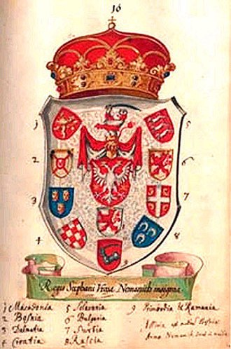Stefan Uroš V - Coat of Arms of Serbian lands during Stefan Uroš V