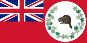 Canadian Red Ensign - Image: Caribou Canadian Flag