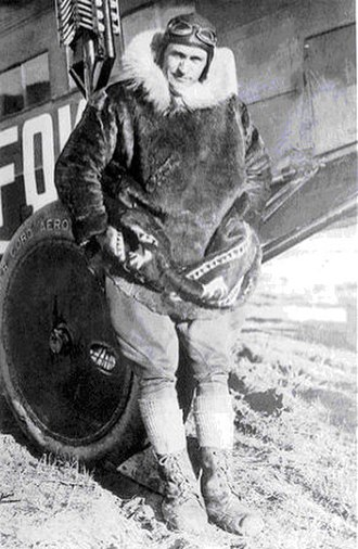 Fur - Carl Ben Eielson, US Pilot and Arctic explorator wearing a seal fur coat