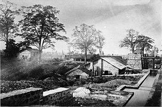 Haldwani - Ironworks in Kaladhungi at the turn of 1862/1863.