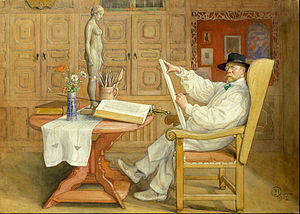 Carl Larsson - Self-Portrait in the new studio