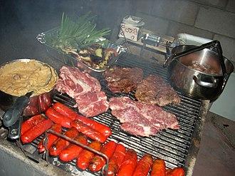 Carne asada - Image: Carne asada chorizo