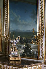 Gilded Mirror and Marble Mantle