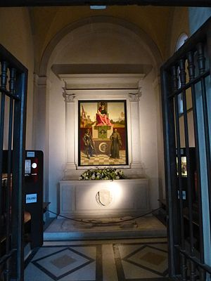 Castelfranco Madonna - The painting in its setting