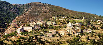 Castifao - A panorama of the village