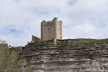 Papercraft del Castillo de Alcalá del Júcar, Albacete, España. Manualidades a Raudales.