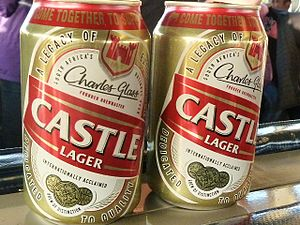 Castle Brewery - Two cans of Castle Lager, 2014