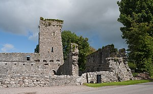 Castlelyons Friary - Image: Castlelyons Friary Tower and Dormitory 2015 08 27