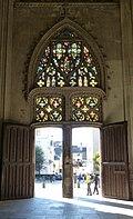 Cathédrale Saint-Gatien de Tours West Door from inside nave.jpg