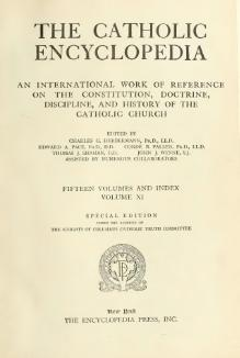 Catholic Encyclopedia, volume 11.djvu