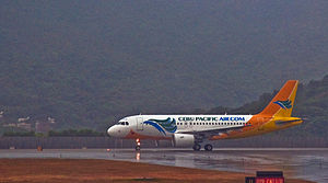 English: Airbus A319-100 RP-C3193 of Cebu Paci...