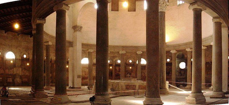 File:Celio - santo Stefano Rotondo - interno in restauro 01533-4.JPG
