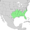 Celtis laevigata range map 1.png