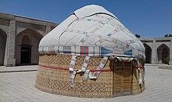 Central Asian Yurt in Museum in Samarkand.jpg