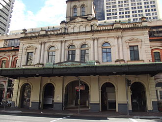 Central railway station, Brisbane - Ann Street entrance in July 2012