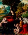 Cesare Magni - La Vierge aux rochers (d'après Léonard de Vinci) - entre 1520 et 1525 - Naples, musée de Capodimonte.png