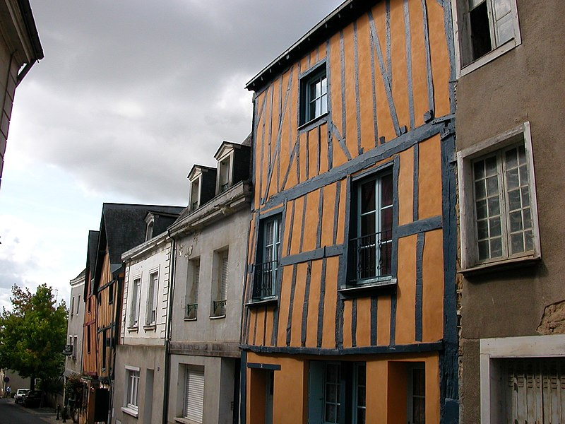 Timber frame houses, rue d'Olivet in Château-Gontier