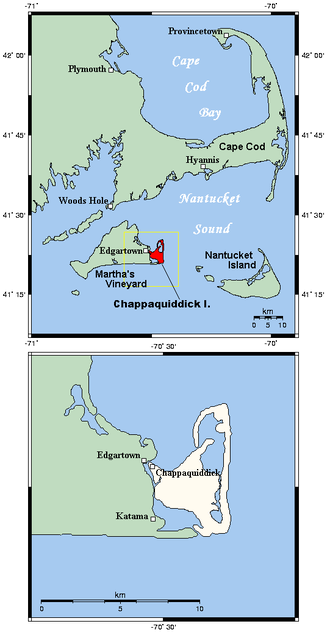 Chappaquiddick Island - Chappaquiddick Island is connected to Martha's Vineyard with the southern barrier beach between Katama and Wasque.