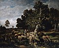 Charles-Émile Jacque - Shepherdess watering Sheep (1881).jpg