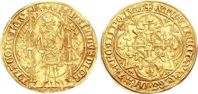 Charles V France franc pied 73001141