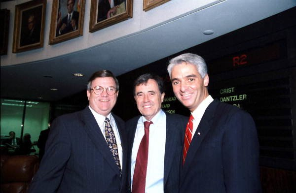 Charlie Crist with other Florida State Senators