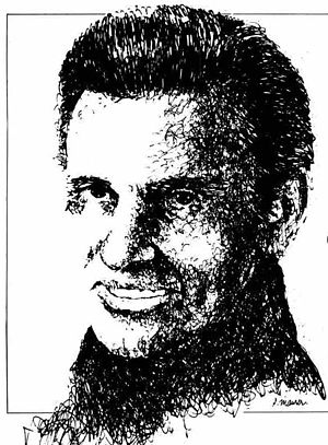 Charlie Walker (musician) - Promotional drawing of Charlie Walker, 1967