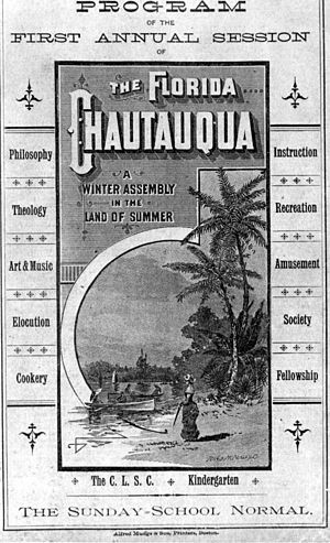 Pensacola and Atlantic Railroad - Program from the first Chautauqua held at DeFuniak Springs, 1885